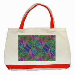 Spiral Pattern Swirl Pattern Classic Tote Bag (Red)