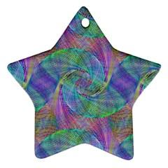Spiral Pattern Swirl Pattern Star Ornament (Two Sides)