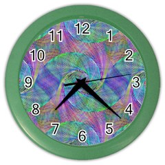 Spiral Pattern Swirl Pattern Color Wall Clocks by Nexatart