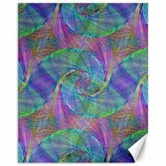 Spiral Pattern Swirl Pattern Canvas 11  x 14