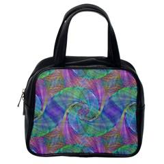 Spiral Pattern Swirl Pattern Classic Handbags (One Side)