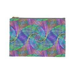 Spiral Pattern Swirl Pattern Cosmetic Bag (Large)