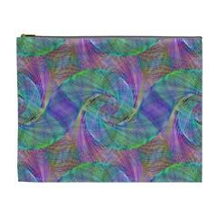 Spiral Pattern Swirl Pattern Cosmetic Bag (XL)