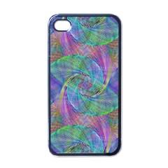 Spiral Pattern Swirl Pattern Apple iPhone 4 Case (Black)