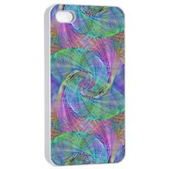 Spiral Pattern Swirl Pattern Apple iPhone 4/4s Seamless Case (White)