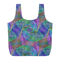 Spiral Pattern Swirl Pattern Full Print Recycle Bags (L)