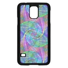 Spiral Pattern Swirl Pattern Samsung Galaxy S5 Case (Black)