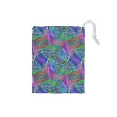Spiral Pattern Swirl Pattern Drawstring Pouches (small)  by Nexatart