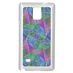 Spiral Pattern Swirl Pattern Samsung Galaxy Note 4 Case (White)