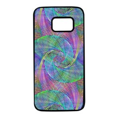 Spiral Pattern Swirl Pattern Samsung Galaxy S7 Black Seamless Case