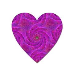 Pink Abstract Background Curl Heart Magnet by Nexatart