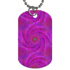 Pink Abstract Background Curl Dog Tag (two Sides) by Nexatart