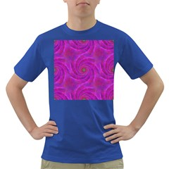 Pink Abstract Background Curl Dark T Shirt