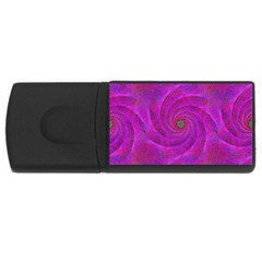 Pink Abstract Background Curl Rectangular Usb Flash Drive