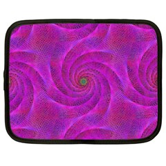 Pink Abstract Background Curl Netbook Case (xxl)