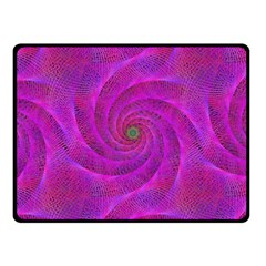 Pink Abstract Background Curl Fleece Blanket (small)