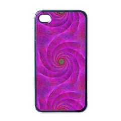 Pink Abstract Background Curl Apple Iphone 4 Case (black)