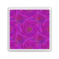 Pink Abstract Background Curl Memory Card Reader (square)  by Nexatart