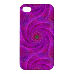 Pink Abstract Background Curl Apple Iphone 4/4s Hardshell Case by Nexatart