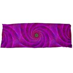 Pink Abstract Background Curl Body Pillow Case (dakimakura) by Nexatart
