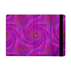 Pink Abstract Background Curl Apple Ipad Mini Flip Case by Nexatart