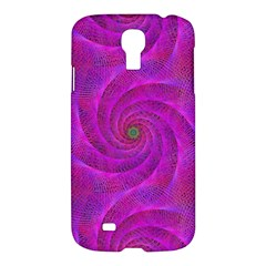 Pink Abstract Background Curl Samsung Galaxy S4 I9500/i9505 Hardshell Case