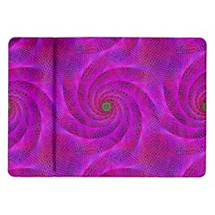 Pink Abstract Background Curl Samsung Galaxy Tab 10 1  P7500 Flip Case