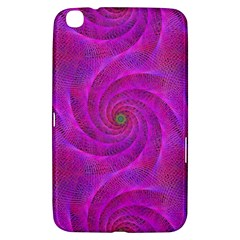 Pink Abstract Background Curl Samsung Galaxy Tab 3 (8 ) T3100 Hardshell Case