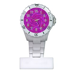Pink Abstract Background Curl Plastic Nurses Watch