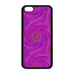 Pink Abstract Background Curl Apple Iphone 5c Seamless Case (black) by Nexatart