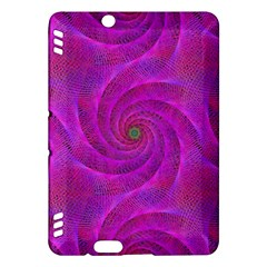 Pink Abstract Background Curl Kindle Fire Hdx Hardshell Case by Nexatart