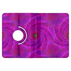 Pink Abstract Background Curl Kindle Fire Hdx Flip 360 Case
