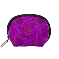 Pink Abstract Background Curl Accessory Pouches (small)  by Nexatart