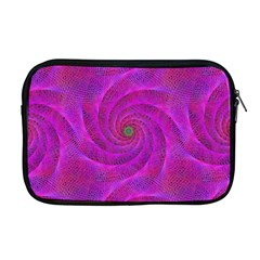 Pink Abstract Background Curl Apple Macbook Pro 17  Zipper Case by Nexatart