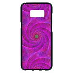 Pink Abstract Background Curl Samsung Galaxy S8 Plus Black Seamless Case by Nexatart