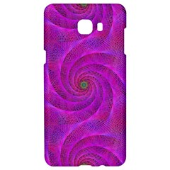 Pink Abstract Background Curl Samsung C9 Pro Hardshell Case