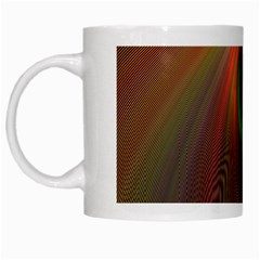 Ellipse Fractal Orange Background White Mugs