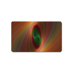 Ellipse Fractal Orange Background Magnet (name Card)