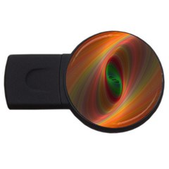 Ellipse Fractal Orange Background Usb Flash Drive Round (2 Gb)