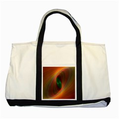 Ellipse Fractal Orange Background Two Tone Tote Bag