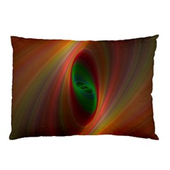 Ellipse Fractal Orange Background Pillow Case