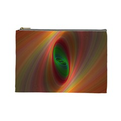 Ellipse Fractal Orange Background Cosmetic Bag (large)