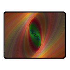 Ellipse Fractal Orange Background Fleece Blanket (small)