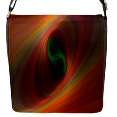 Ellipse Fractal Orange Background Flap Messenger Bag (s)