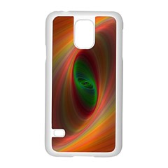 Ellipse Fractal Orange Background Samsung Galaxy S5 Case (white)