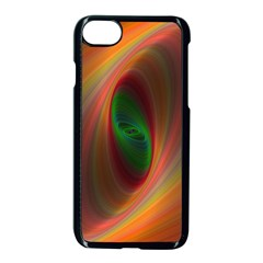 Ellipse Fractal Orange Background Apple Iphone 7 Seamless Case (black)