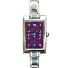 Pattern Seamless Repeat Spiral Rectangle Italian Charm Watch