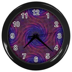 Pattern Seamless Repeat Spiral Wall Clocks (black) by Nexatart