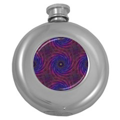 Pattern Seamless Repeat Spiral Round Hip Flask (5 Oz)