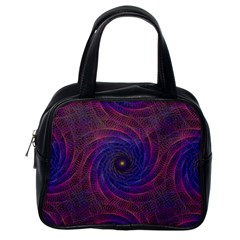 Pattern Seamless Repeat Spiral Classic Handbags (one Side) by Nexatart